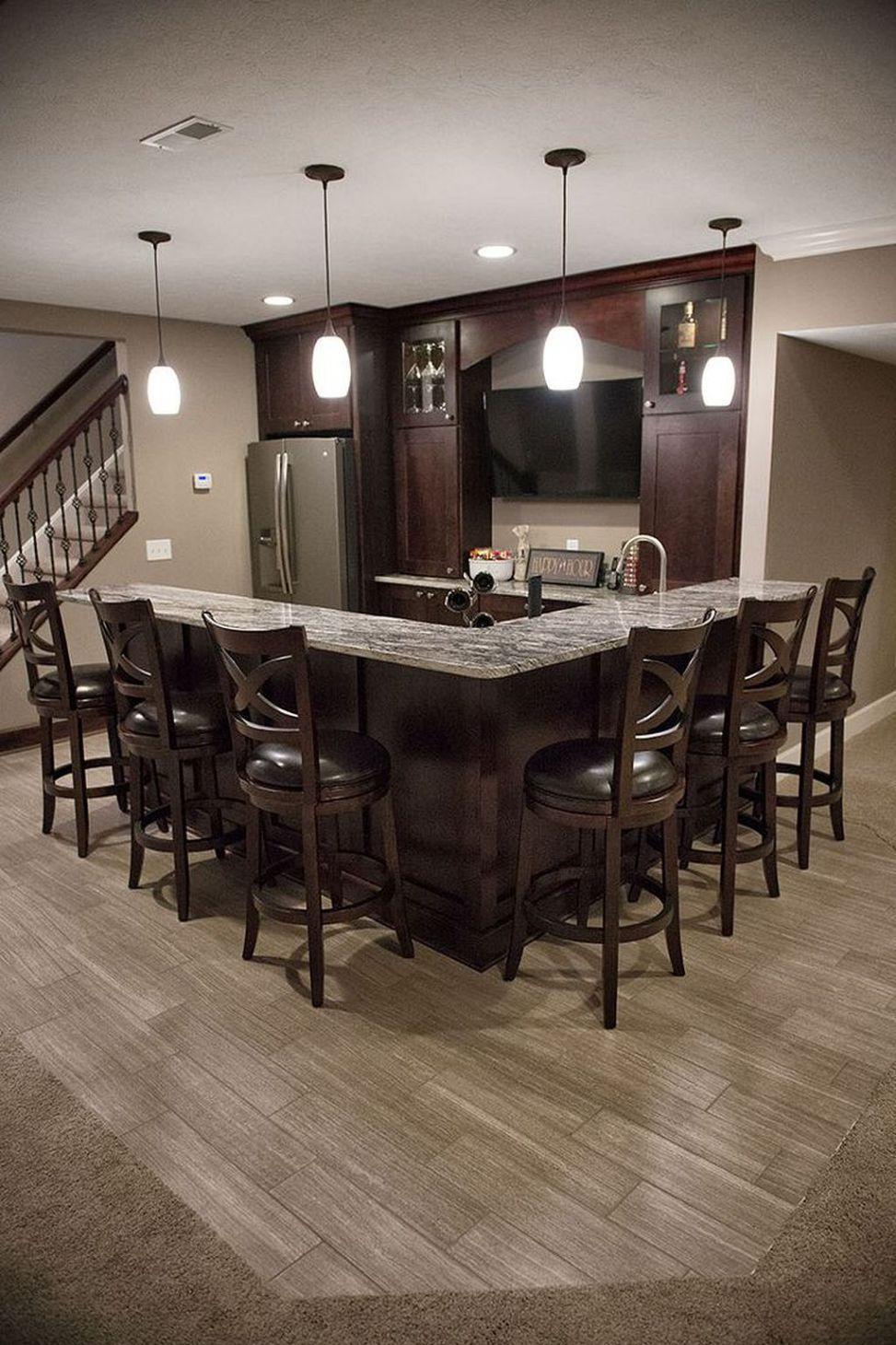Incredible Basement Remodel Ideas (13)   Kitchens   Pinterest ...