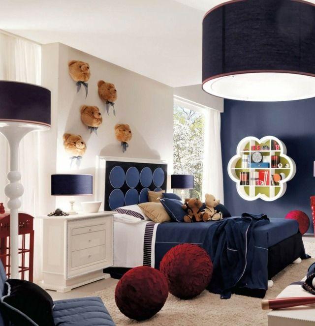 Schon Kinderzimmer Einrichten Dunkle Wandfarbe Jungen Einrichten Ideen