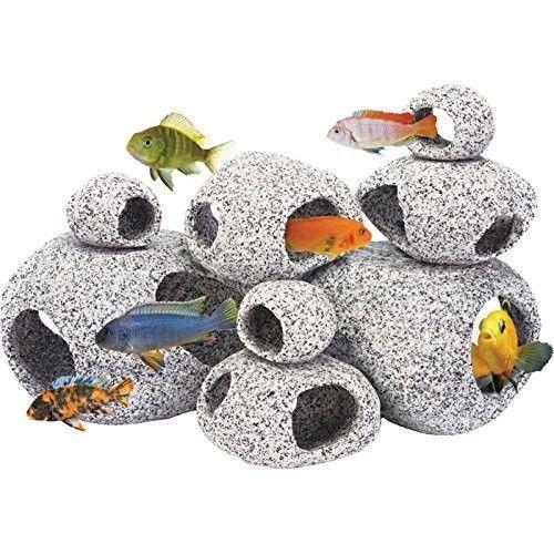 Aquarium Cave Decorations Rocks Stone Ornament Reef Large