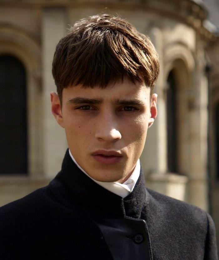 coiffure homme frange