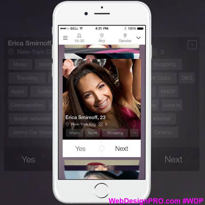 Speed-Dating-App iphone