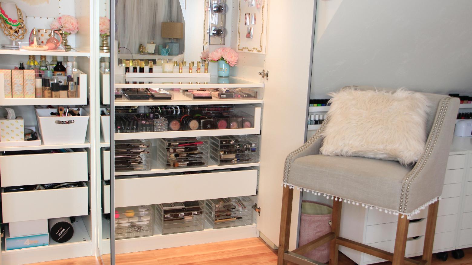 Attractive Dose Of Lisa Pullano: ♡My Makeup Tour U0026 Storage Ideas♡