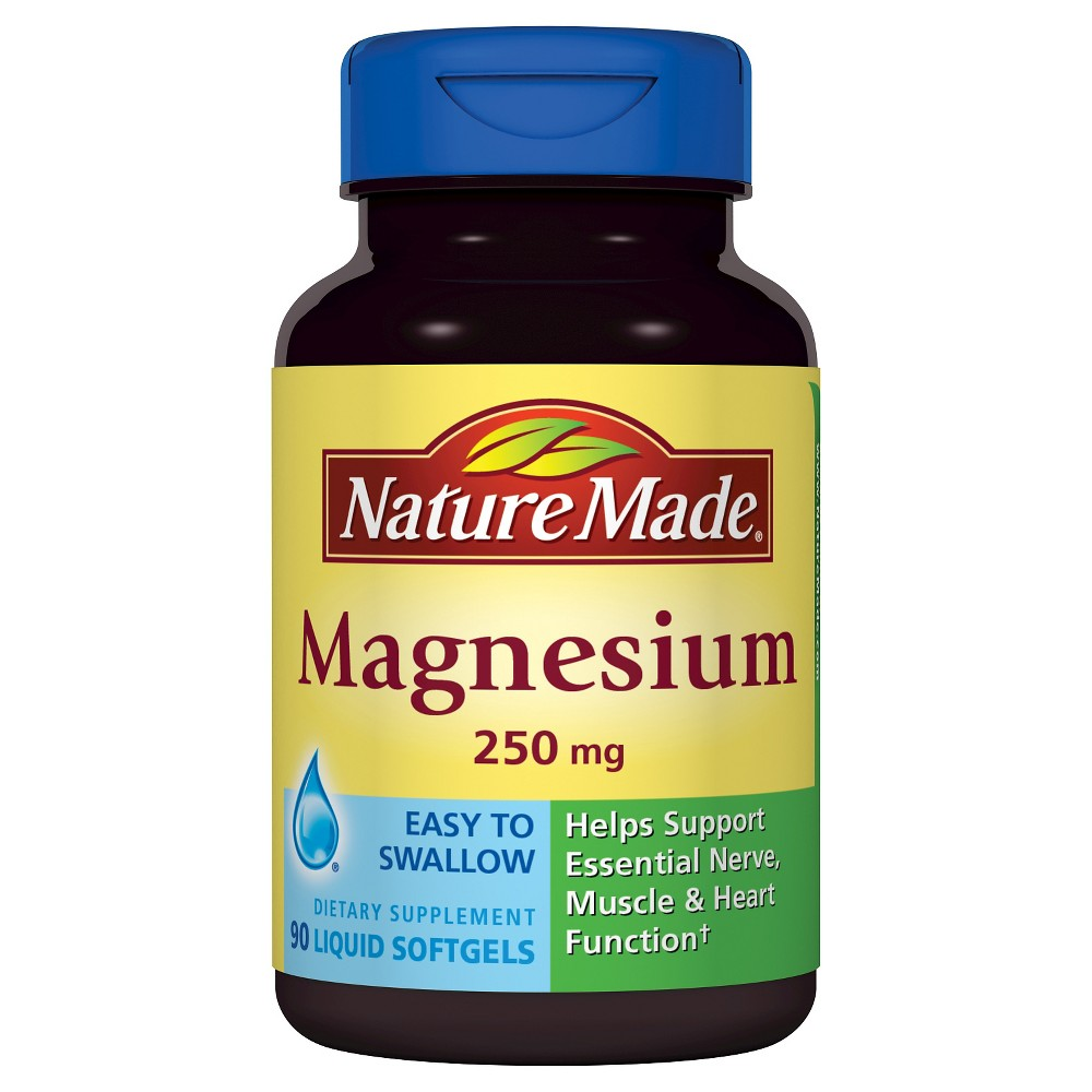 Nature Made Magnesium 250 mg Softgels - 90ct | Nature made