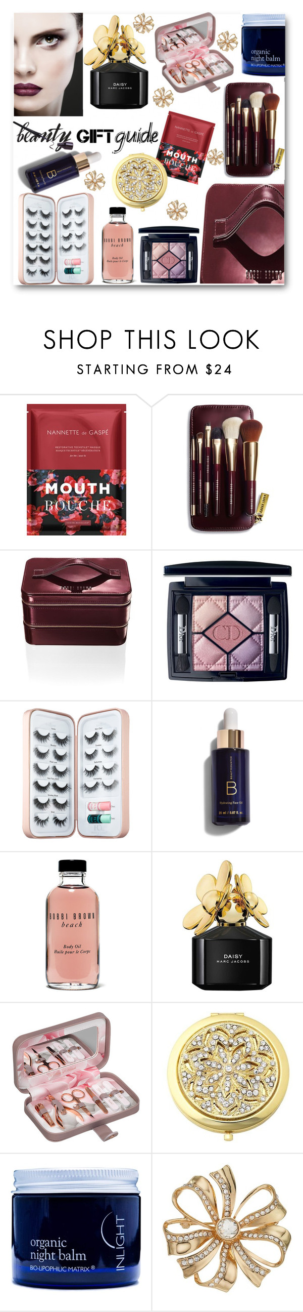 """""""I bought 2-  1 for me 1 for you"""" by looking-for-a-place-to-happen ❤ liked on Polyvore featuring beauty, Nannette de Gaspé, Bobbi Brown Cosmetics, Christian Dior, Sephora Collection, Marc Jacobs, Ted Baker, Frontgate, Inlight Skincare and Dana Buchman"""