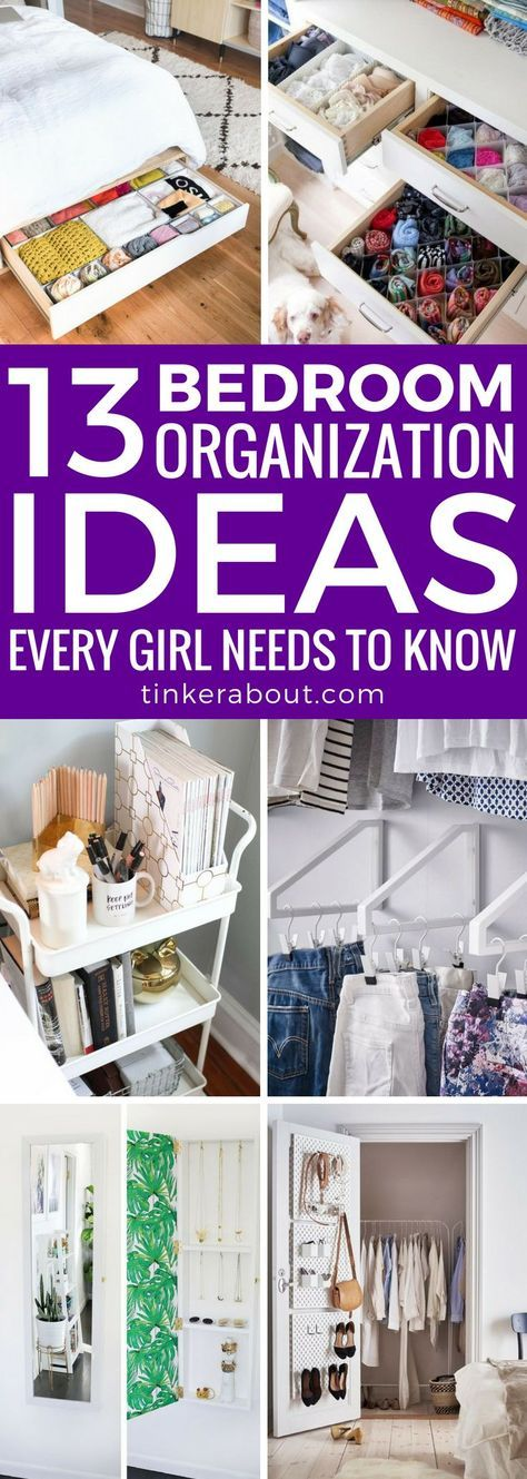13 Bedroom Organization Ideas Every Girl Needs To Kow images