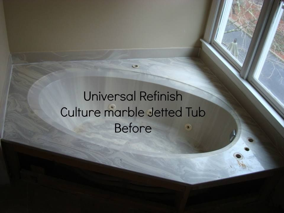Universal Refinish Before Culture marble jetted tub refinishing ...