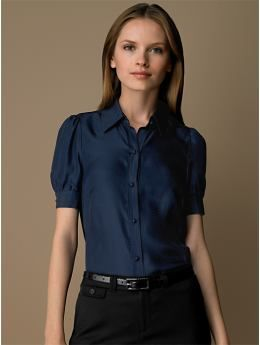 BananaRepublic.com: women: Silk puff-sleeve blouse: short sleeve ...