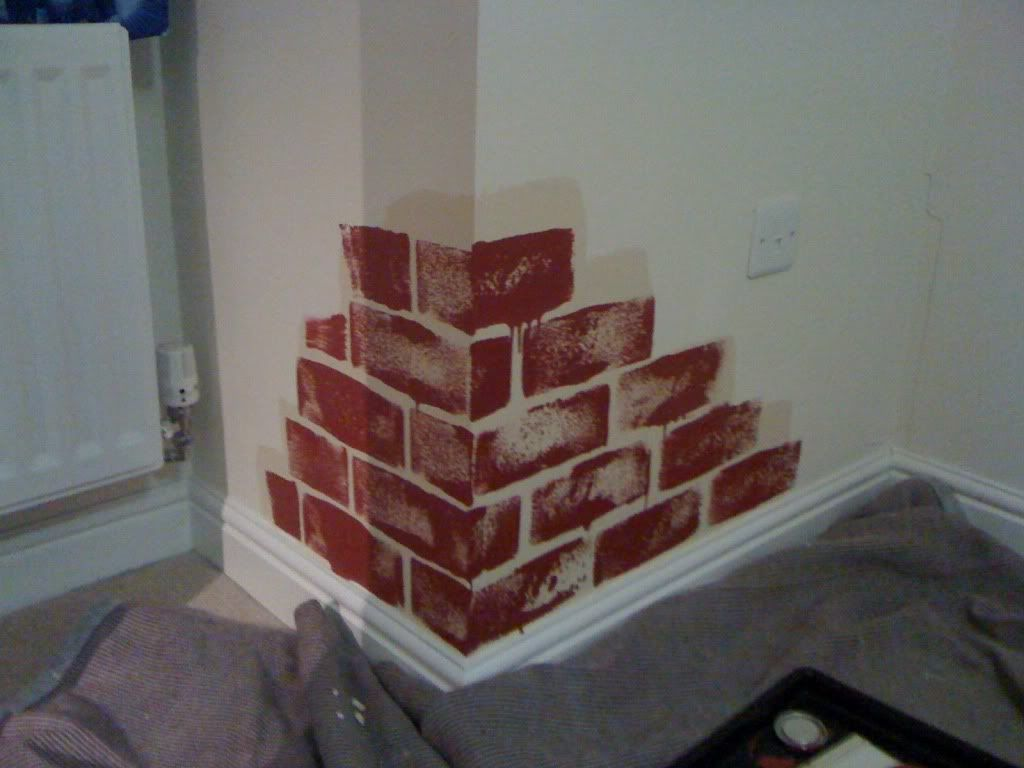 How To Paint A Wall To Look Like Brick Work Urban Art