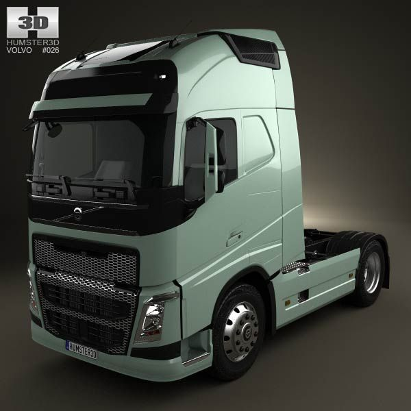 Volvo Pricing: Volvo FH Tractor 2-axis Truck 2012 3d Model From Humster3d