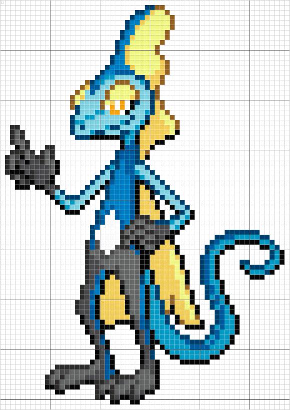 Inteleon Pixel Art Pattern Pixel Art Pokemon Pixel Art