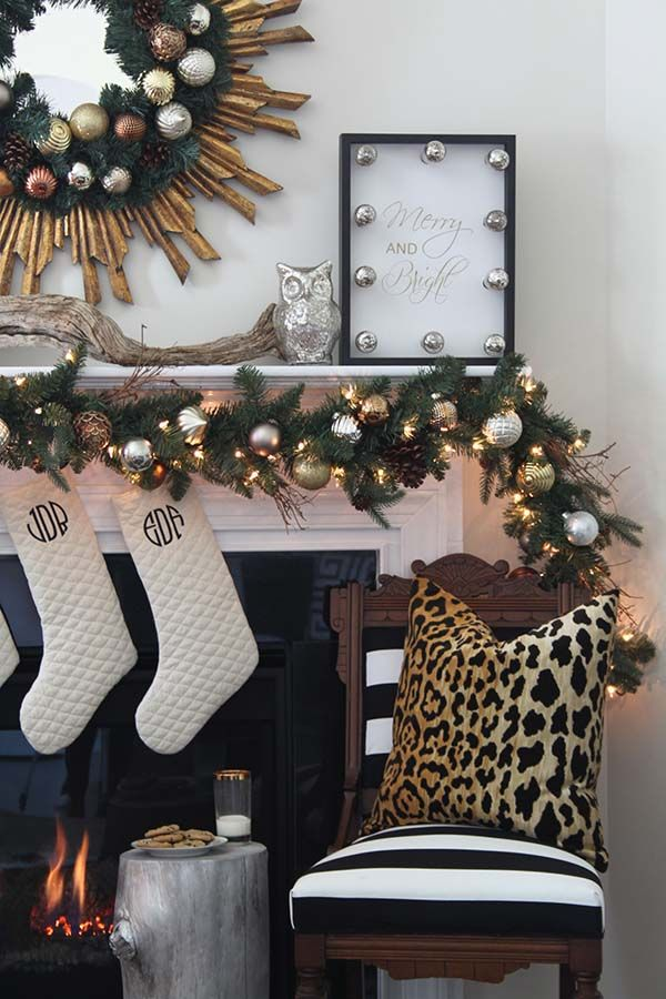A Christmas Decor in Gold, Silver and Copper | Christmas décor ...