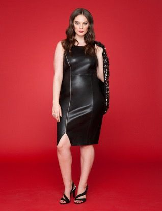 Plus Size Faux Leather Dress | ELOQUII | 40% Off - use code: FAVES