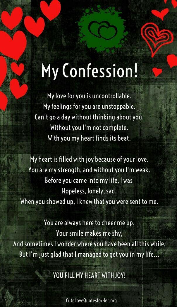 Poems your romantic boyfriend for Deep Love