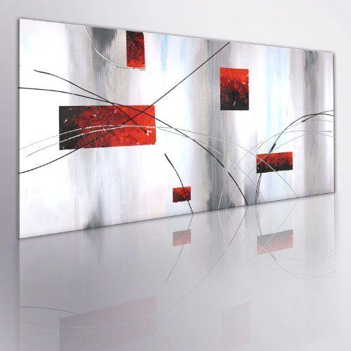 murando handgemalte bilder auf leinwand abstrakt 100x40 cm 1 teilig 100 unikat gemalde leinwandbilder gemalten wandbild malerei kunst grau rot abstrakte 20x20 preisvergleich 80x60