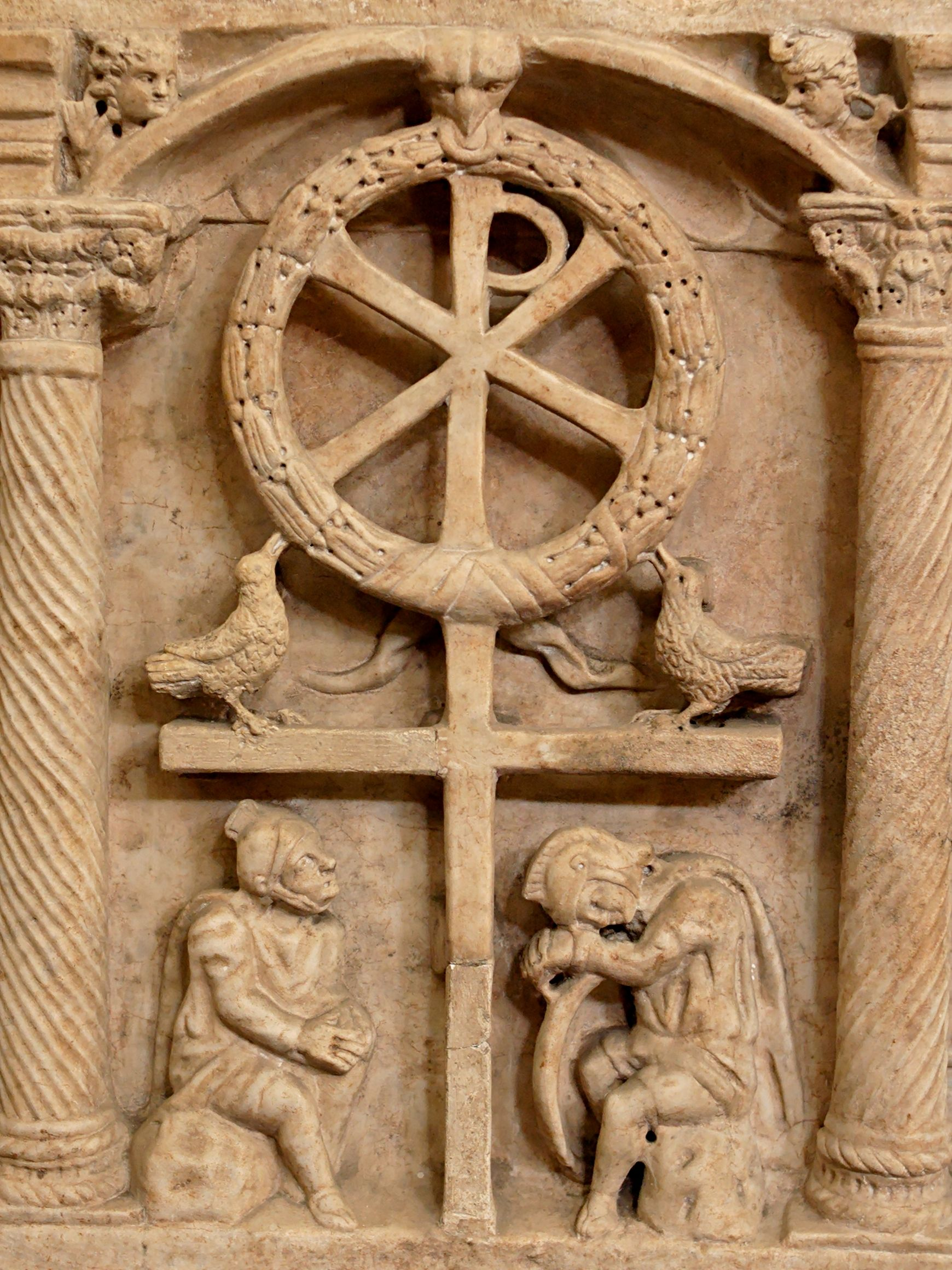 Jesus And The Pagan Gods Chi Rho Roman Soldiers And Pagan Gods