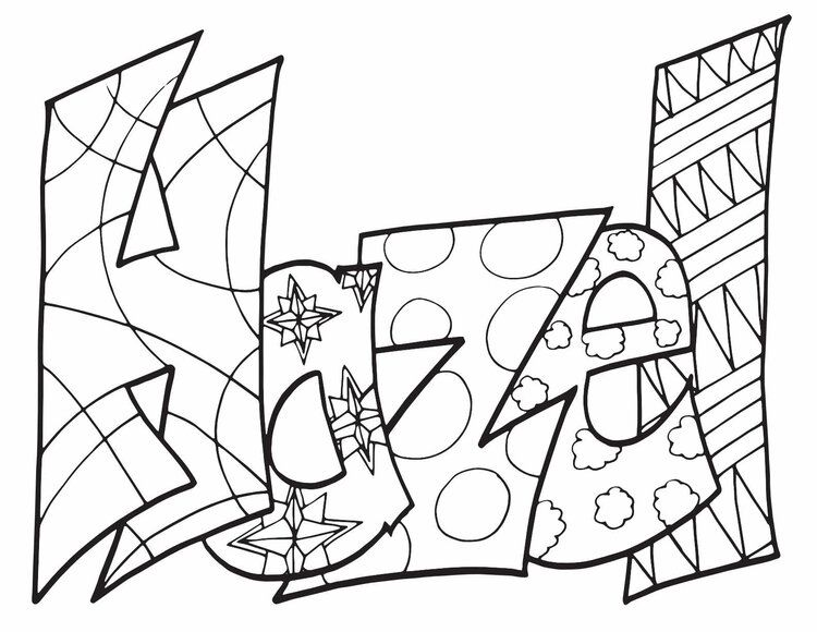 HAZEL Free Printable Name Coloring Pages From Stevie