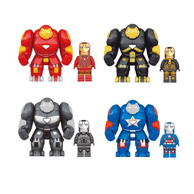 4Pcs//Lot DC Marvel Avengers Heroes Iron Man Hulkbuster Building Blocks