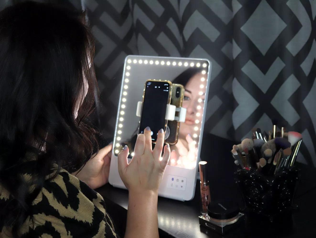 Glamcor Riki Skinny vs Riki Tall Lighted Selfie Mirrors