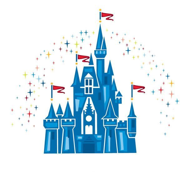 Disney castle drawing. Free printable picture of