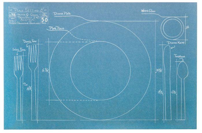Blueprint paper placemats etiquette pinterest comedido mesas blueprint paper placemats malvernweather Images