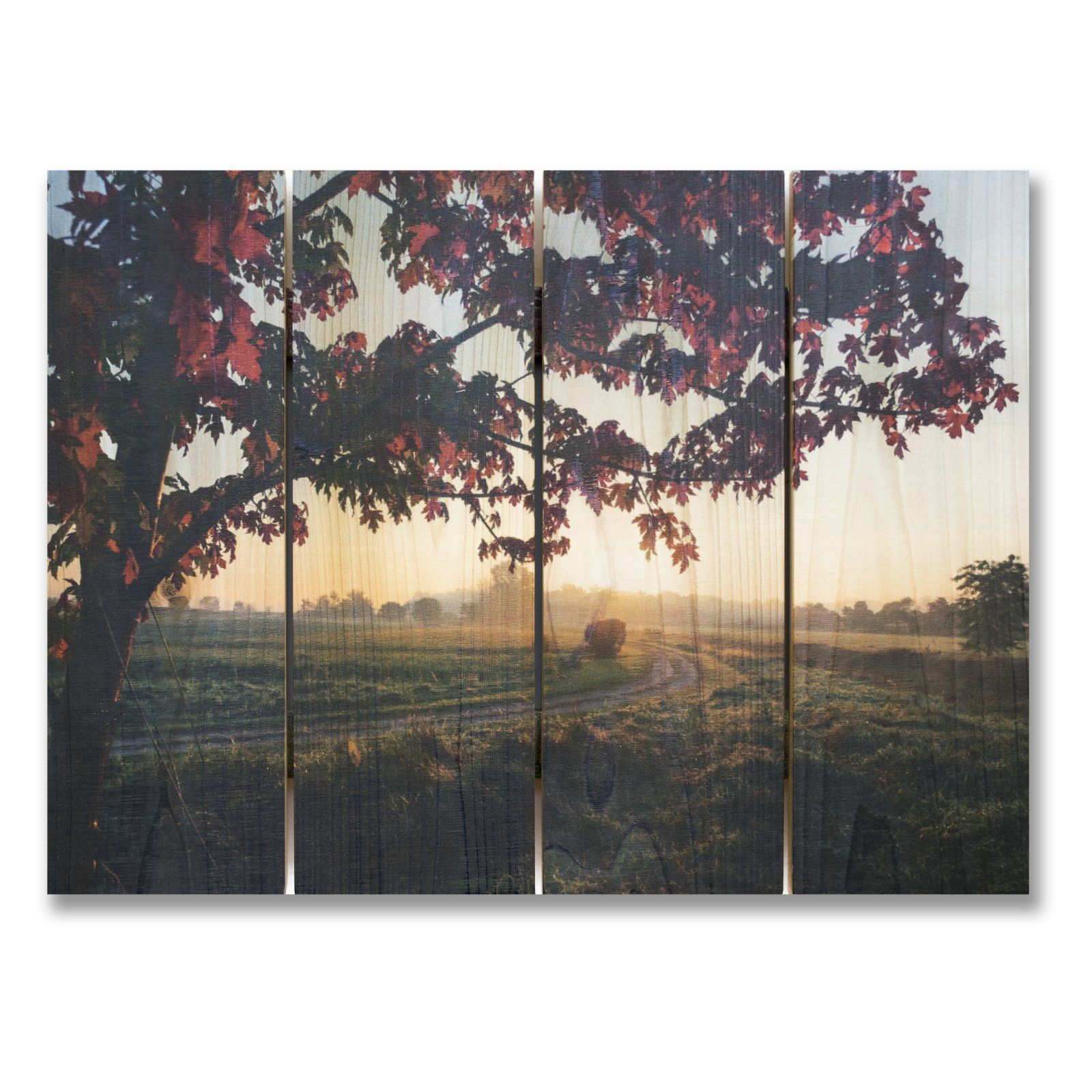 Gizaun Art Autumn Sunset Indoor Outdoor Wall Art Products In 2019