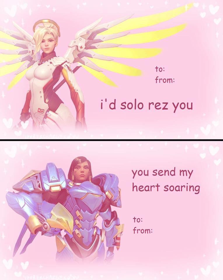 Overwatch Valentines Day Cards Imgur Overwatch Memes Overwatch Funny Valentines Cards
