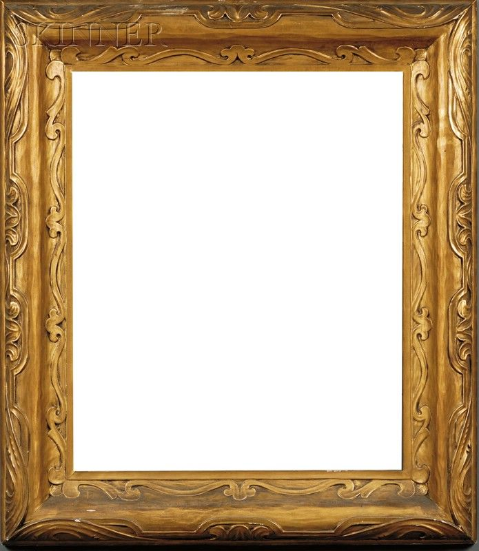 A carved and gilt frame by J.H. Miller Picture Framing Co. of ...