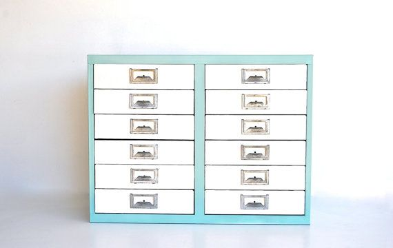 Industrial Metal Cabinet with Drawers by charliesnest on Etsy from charliesnest
