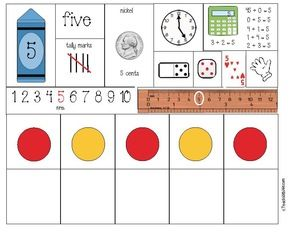 FREE set of number posters (1-10) with a list of things to use them for, including puzzles and games.