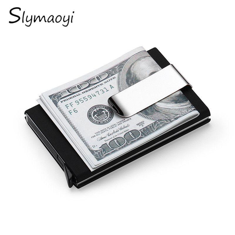 Slymaoyi Rfid nhôm Card Wallet Men Nữ Doanh Nhân ID Tín Dụng Chủ thẻ ...