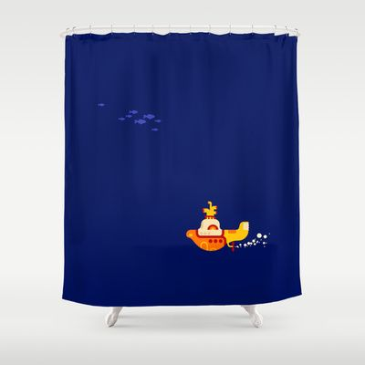 Beatles Yellow Submarine Shower Curtain For The Bathroom Decor Shower Curtain Curtains Yellow Submarine