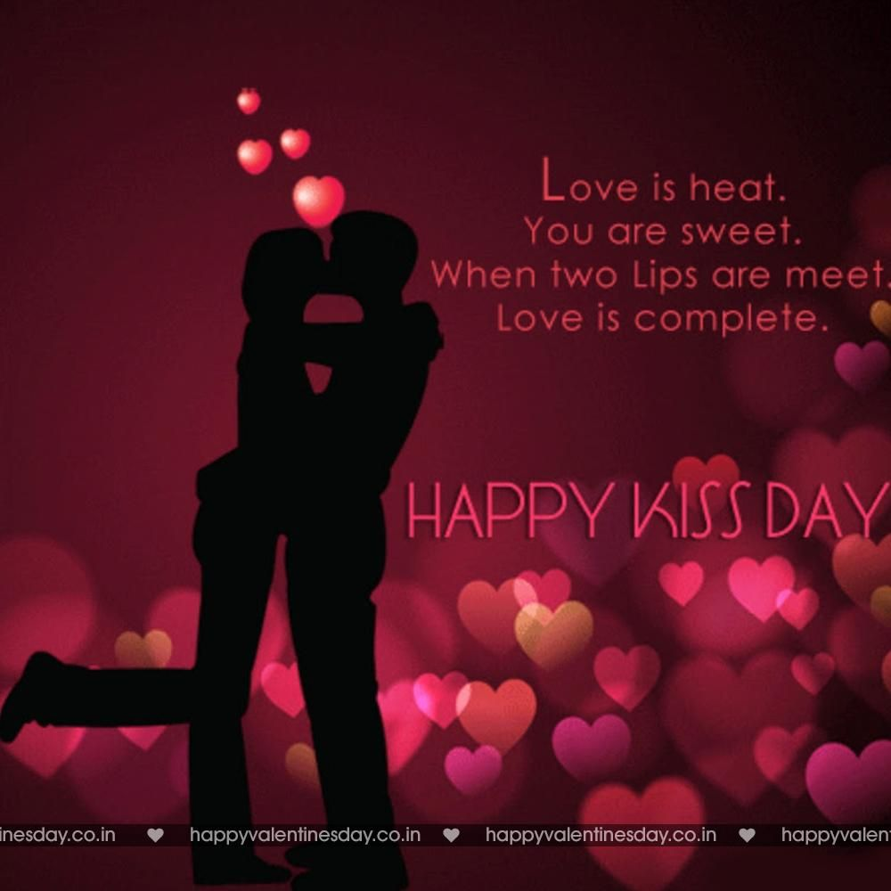 Kiss Day Happy Valentine Card Happy Kiss Day Kiss Day Quotes