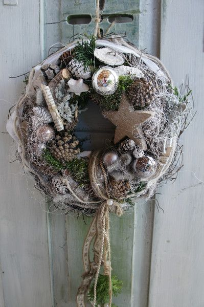 "Photo of Door wreath ""Winter time …."" from Trödelliebelei …. on DaWanda.com"