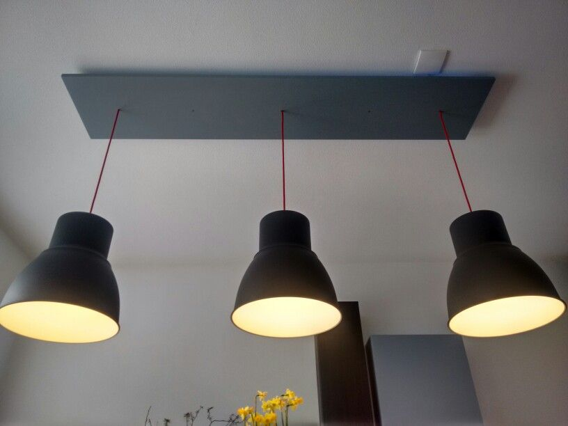 IKEA hack; Hektar lampen in hoogte verstelbaar Ikea Hacks Pinterest Ikea hack, Lights and