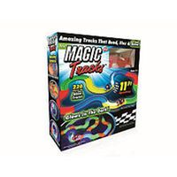 MAGIC TRACKS Glow in the Dark RED LIGHT UP RACE CAR Bend Flex AS SEEN ON TV 2016