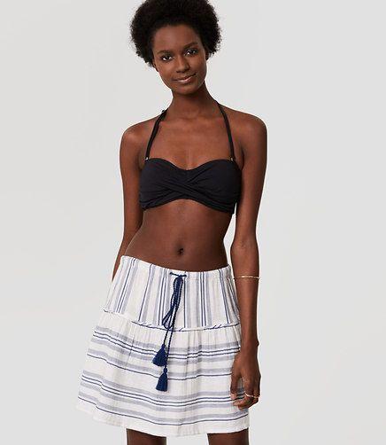 0321f68e0e Image of LOFT Beach Striped Drawstring Skirt | Passion for Fashion ...