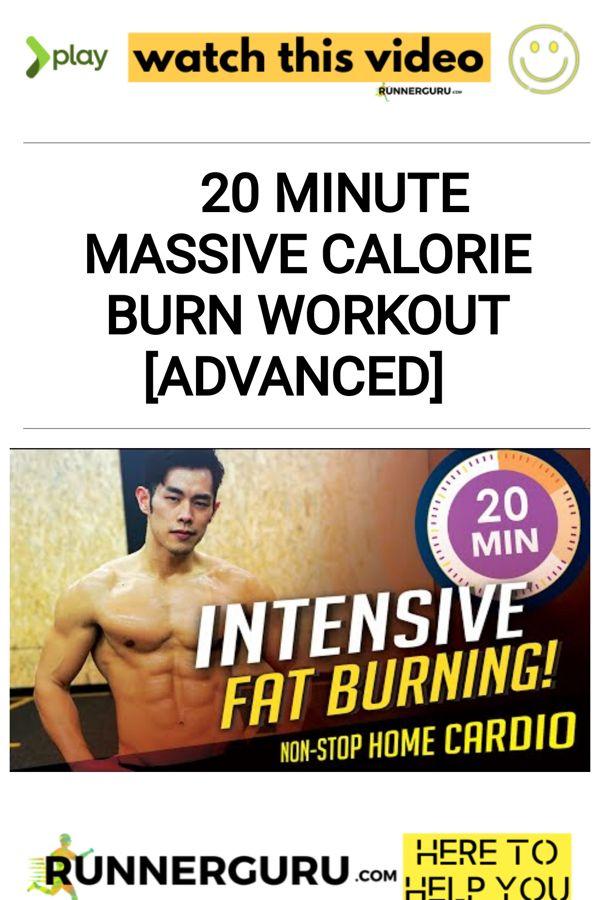 20 Minute Massive Calorie Burn Workout [ADVANCED] | RunnerGuru