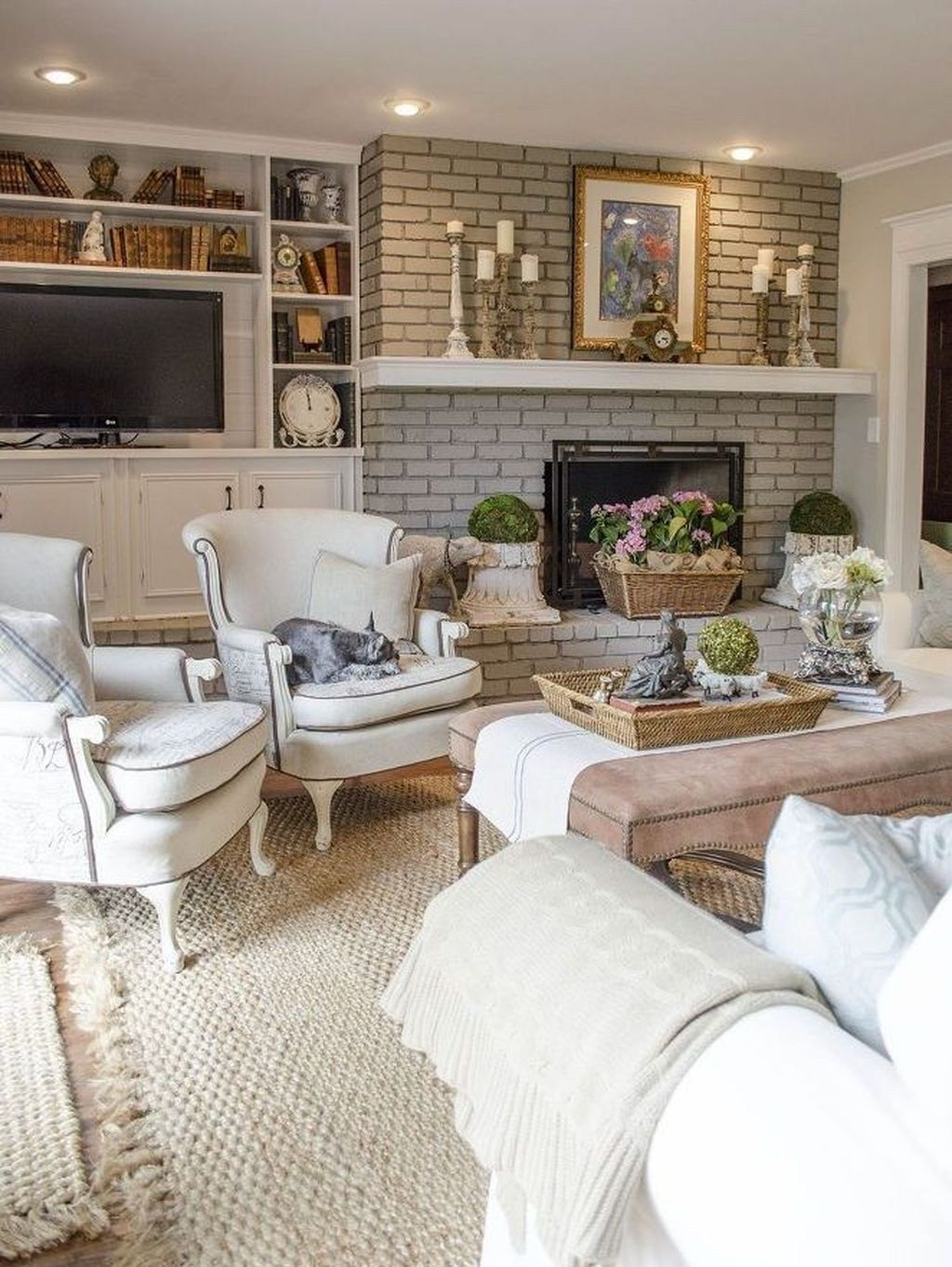 Cozy French Country Living Room Decor Ideas 04 | French ...