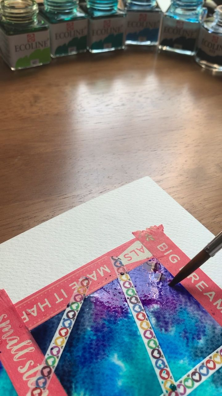 Rainbow watercolor painting �