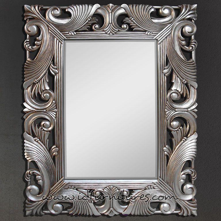 Mirror Frame Idcd022 Silver Leaf Foyer, Silver Mirror Frame A4