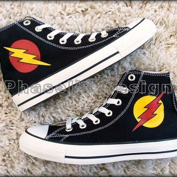 f0574c4db716 The Flash and Reverse Flash Custom Converse   Painted Shoes ...