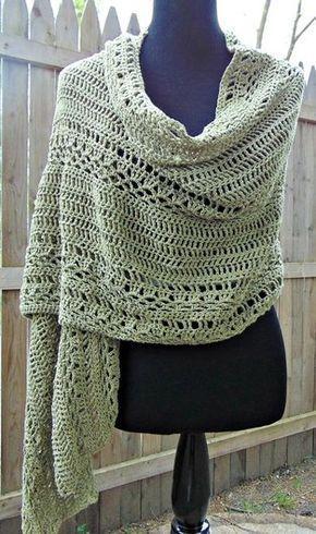 Milan Summer Wrap - Free Crochet Pattern   Chal, Ponchos y Patrones ...
