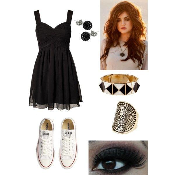 Dress + Converse - Polyvore   Vestidos   Pinterest