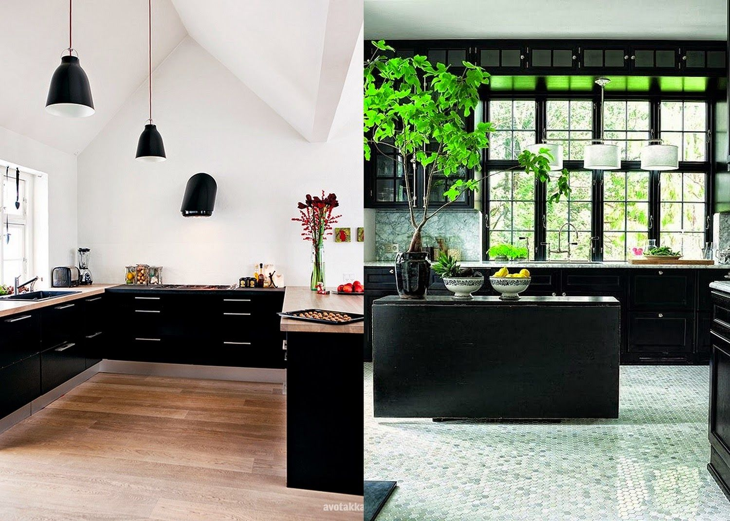 Best Pin By Samuel Cochran On Interiors Black Kitchens Home 400 x 300
