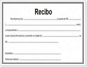 Recibo Simples Pagamento Modelos Imprimir Gratis Para Baixar