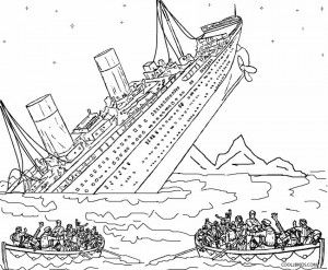Printable Titanic Coloring Pages For Kids Titanic Sinking Coloring Pages Titanic Art
