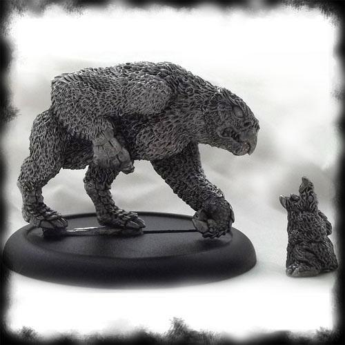 Oathsworn Miniatures Owlbear and cub