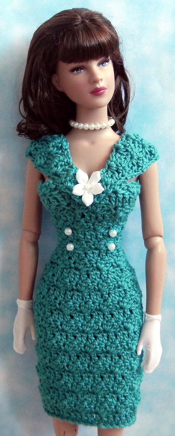 Crochet pattern (PDF) for 16-inch fashion doll - 1950s style daytime ...