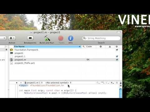 Lesson 1 Objective C Programming Tutorials. How To Build Apps on Mac Xcode  Application Development