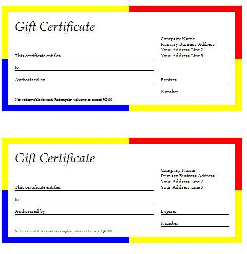 Gift Certificate Template Download Points To Note Of Choosing Best